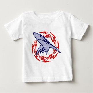 Flames and Shark Baby T-Shirt