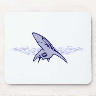 Flames and Shark Mouse Pad