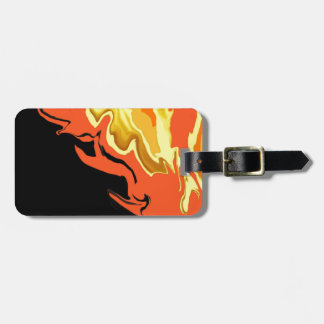 Flames at Night Personalised Luggage Tag