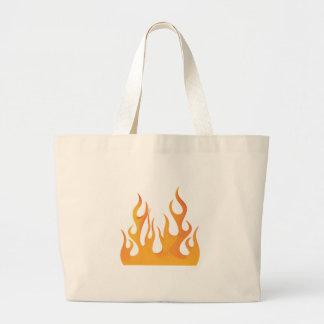 Flames Canvas Bag