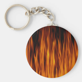 flames basic round button key ring
