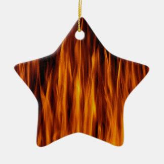 flames christmas ornament
