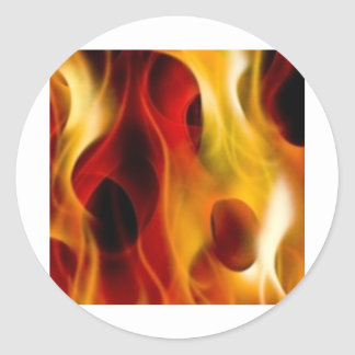 Flames Classic Round Sticker