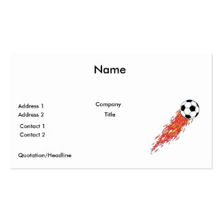 flames fire soccer ball pack of standard business cards