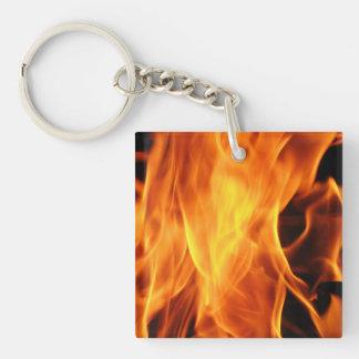 Flames Acrylic Key Chain