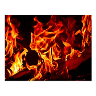 Flames of Fire Postcard