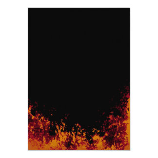 Flames on Black Invitation