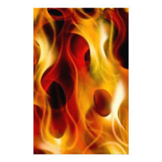 Flames Personalised Stationery