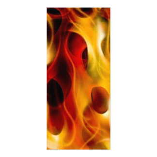 Flames Personalized Rack Card