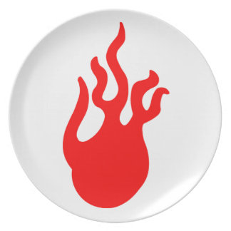 Flames Plate