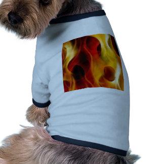 Flames Ringer Dog Shirt