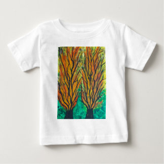 Flames Trees Baby T-Shirt