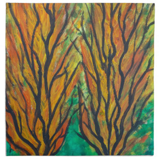 Flames Trees Napkin