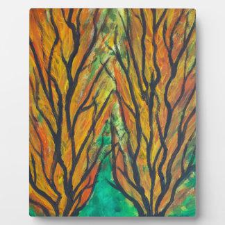 Flames Trees Plaque