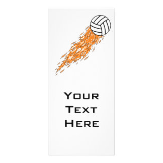 flames volleyball design rack cards