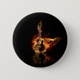 flamin guitar 6 cm round badge