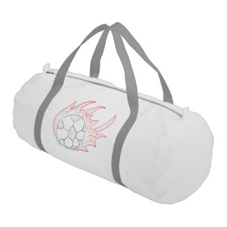 Flamin' Soccer ball sport bag Gym Duffel Bag