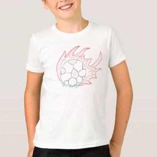 Flamin' Soccer ball t-shirt