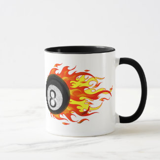 Flaming 8 Ball Mug