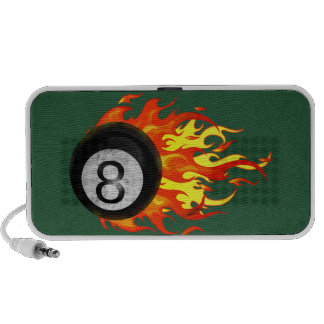 Flaming 8 Ball Speakers