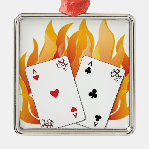 Flaming Aces Ornament