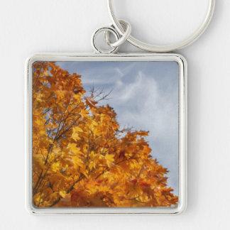 Flaming Autumn Keychain