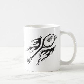 Flaming Badminton Coffee Mug