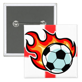 Flaming Ball St George Flag 15 Cm Square Badge
