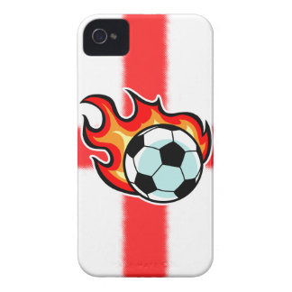 Flaming Ball St George Flag Case-Mate iPhone 4 Case