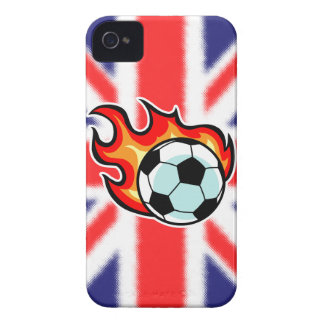 Flaming Ball Union Jack iPhone 4 Case