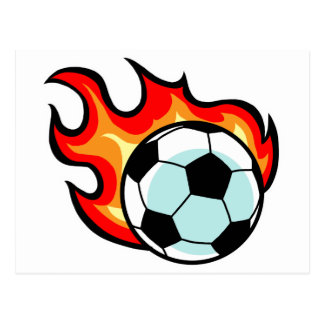 Flaming Ball Union Jack Postcard