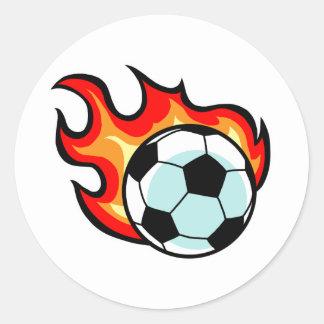 Flaming Ball Union Jack Round Sticker