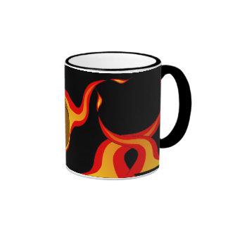 flaming basket ball-mug
