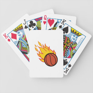 Flaming Basketball Appliqué Bicycle Poker Deck
