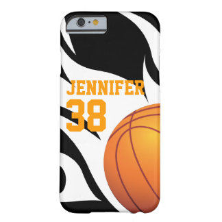 Flaming Basketball B/W Barely There iPhone 6 Case