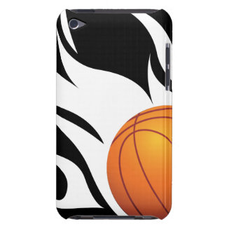 Flaming Basketball Black and White iPod Touch Covers