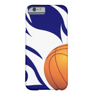 Flaming Basketball Blue and White Barely There iPhone 6 Case