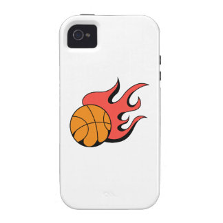FLAMING BASKETBALL VIBE iPhone 4 COVER