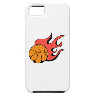 FLAMING BASKETBALL iPhone 5 CASE