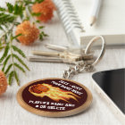 Flaming Basketball Gifts for Players PERSONALIZED Key Ring