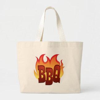 Flaming BBQ Jumbo Tote Bag