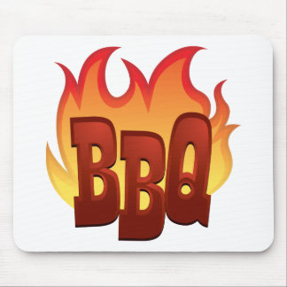 Flaming BBQ Mouse Pad