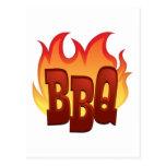 Flaming BBQ Postcards