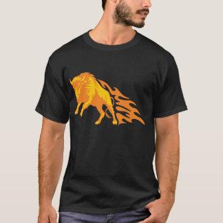 Flaming Bison #3 T-Shirt