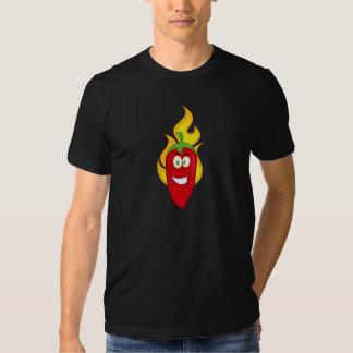 Flaming Chili Pepper Mens T-Shirt
