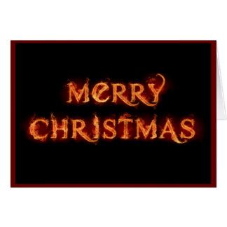 Flaming Christmas Card