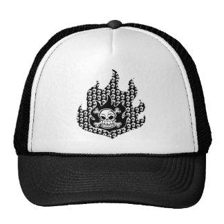 Flaming Cross Bones Trucker Hat