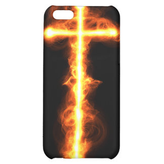 Flaming Cross Case Cover For iPhone 5C