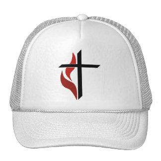 Flaming Cross Trucker Hat