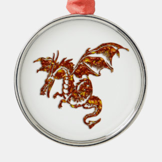 Flaming Dragon Christmas Ornament